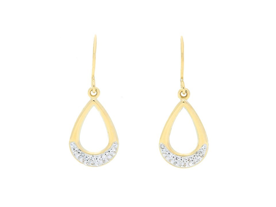 23d90bfe7 Default Image 9ct yellow gold cubic zirconia pear shaped drop earrings -  X51869Alternative Image1 ...