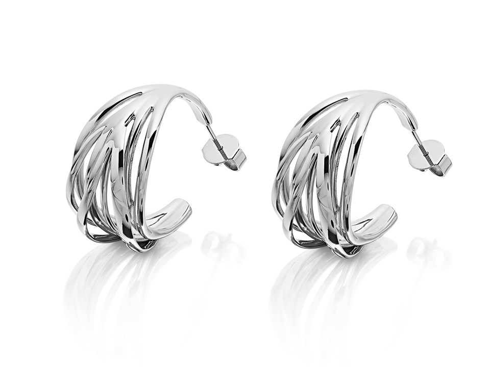 Stainless Steel Polished Dolphin Post Earrings