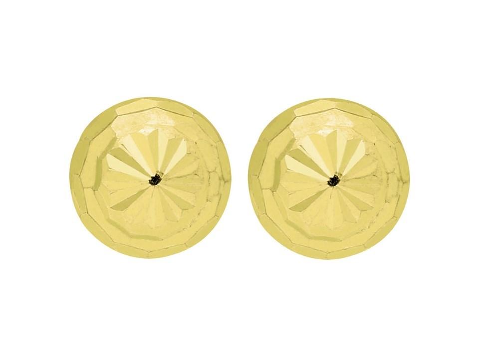 0ae51f812 9ct Gold Diamond Cut Stud Earrings - 6mm - X51192 | Chapelle Jewellers