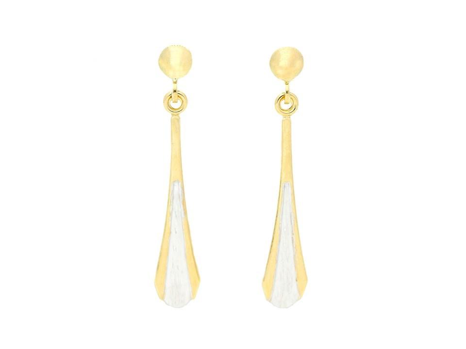 c276850df Default Image 9ct gold two colour diamond cut drop earrings -  X51346Alternative ...
