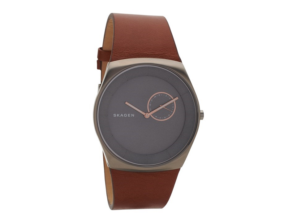 Skw6415 Havene Leather Titanium Tan Watch Skagen X81613 Strap 7fyIvY6gmb